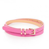 Open Buckle Belt in Pink - ShopSosie.com