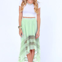 Black Sheep Rosalind Mint Green High-Low Skirt