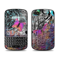 BlackBerry Q10 Skin - Butterfly Wall by Juleez