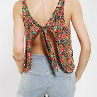 OBEY Kozmic Fleur Cropped Tank Top