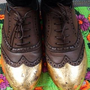 Gold detail brogues from REtrose