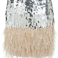 Feather Sequin Skirt - View All  - New In