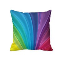 Rainbow Colors Throw Pillow from Zazzle.com