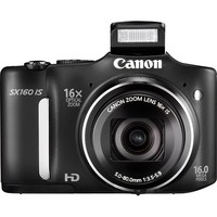 Canon - PowerShot SX160 IS 16.0-Megapixel Digital Camera - Black