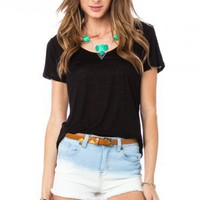 Tissue Tee in Black - ShopSosie.com