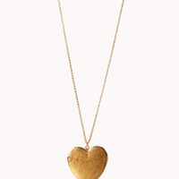 Oversized Heart Locket Necklace