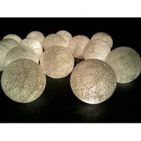 Amazon.com: I Love Handicraft Pure White Cotton Ball String Lights Patio Wedding and Party Decoration (20 Balls/set): Everything Else