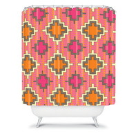 DENY Designs Home Accessories | Sharon Turner Tangerine Kilim Shower Curtain