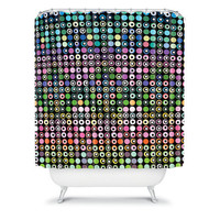 DENY Designs Home Accessories | Lisa Argyropoulos Dot Matrix Shower Curtain
