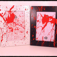 Black Blood Splatter Frame by LaMuerteDulce on Etsy