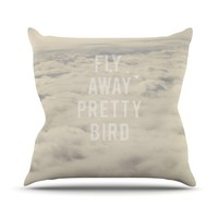 Catherine McDonald &quot;Fly Away Pretty Bird&quot; Throw Pillow | KESS InHouse