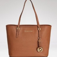 Michael Kors Jet Set Women's Travel Tote Handbag Purse Brown:Amazon:Shoes