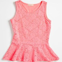 Soprano Lace Peplum Shirt (Big Girls) | Nordstrom