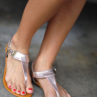 Simply Rosey Sandals: Rose Gold | Hope's
