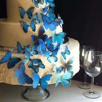 Blue Assortment of Edible Butterlies | SugarRobot - Wedding on ArtFire