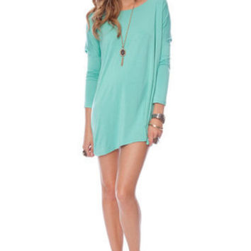 Basics Tunic Top in Seafoam :: tobi