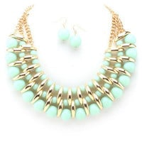 Casablanca Necklace - Mint -  $26.00 | Daily Chic Accessories | International Shipping