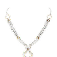 Lucky You Tri Clover Pavé Necklace -  $27.00 | Daily Chic Accessories | International Shipping