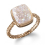 Charm & Chain | Nadia Stackable Druzy Ring, Halo - Precious Stones - Collections