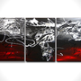 Abstract painting - Red black painting - Contemporary artwork - Modern abstract canvas painting - Red and black painting - Contemporary art