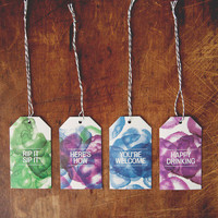 Gift Tag Pack | Watercolor | Bottle Stock