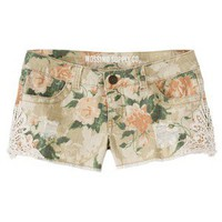 Mossimo Supply Co. Juniors Floral Lace Short - Khaki