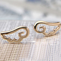 Hollow Out Angle Wing Earring