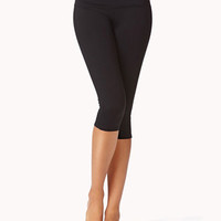 Moisture Management Skinny Workout Capris | FOREVER 21 - 2054726634
