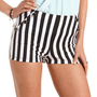 Striped High Waisted Ponte Short: Charlotte Russe