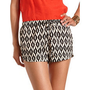 Tie-Waist Aztec Soft Short: Charlotte Russe