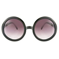 ASOS Black Round Sunglasses at asos.com