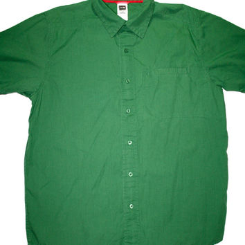 Green North Face Hiking Shirt Mens Size Large - Default Title