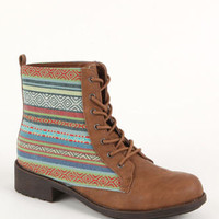 Black Poppy Ethnic Lace up Boots at PacSun.com