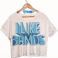 I Like Bands Crop Top | fresh-tops.com