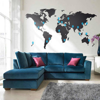 World Map Vinyl Wall Sticker | Vinyl Impression