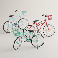 Metal Bicycle Decor, Set of 3