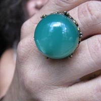 Verdure Upcycled Vintage Revival Cocktail Ring by glowstoes
