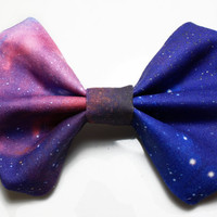 Galaxy Printed Hair Bow version 3 by BiancaParisTaylor on Etsy