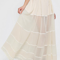 Dress The Population Alex Tiered Maxi Skirt