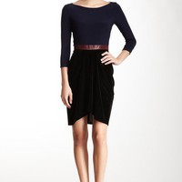 HauteLook | A.B.S. By Allen Schwartz: A.B.S. by Allen Schwartz Contrast 3/4 Length Sleeve Dress