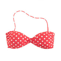 Polka-dot bandeau twist top