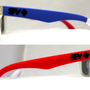 mysunglasses — New Spy Helm Sunglasses Spy+ Ken Block Livery Red Blue Matte sp4