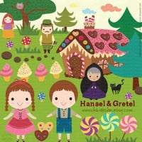 Hansel and Gretel Clip Art Set by Vink Design on Zibbet