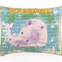 What The Ocean Teaches Us Pillow | OceanStyles.com