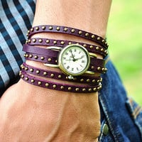 Retro Style Simple leather wrist watch,Handmade Unisex  Personalized  Watch leather wrist watch Bracelet 2262S