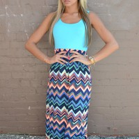Piace Boutique - Splash Dance Maxi Dress in Dresses