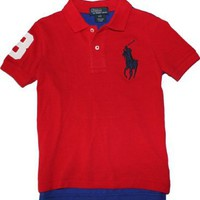 Polo Ralph Lauren Toddler Boy's Big Pony Mesh Polo:Amazon:Clothing