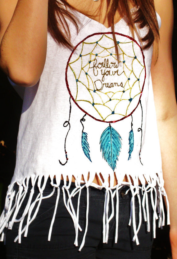 Handmade Dream Catcher Tank With Frindge by LiveAquaShop on Etsy