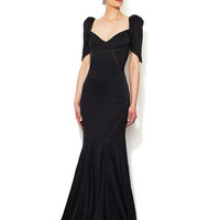 Silk Seamed Boatneck Gown by Zac Posen at Gilt
