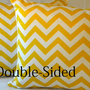 Designer Yellow Chevron design indoor/outdoor beach - &quot;18x18&quot; pillow cover Double Sided